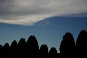 波打つ雲の写真素材 [FYI00200494]