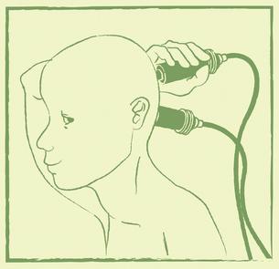 有線を繋ぐ人の写真素材 [FYI00200602]