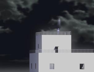 夜の屋上の写真素材 [FYI00200648]
