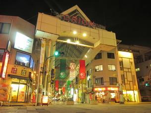 夜の宇都宮市街の写真素材 [FYI00200745]