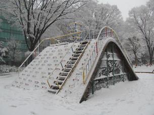大雪の日の公園の写真素材 [FYI00200770]