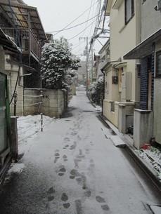 雪の住宅地の写真素材 [FYI00200782]