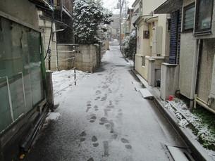雪の住宅地の写真素材 [FYI00200787]