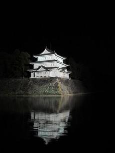 夜の名古屋城の写真素材 [FYI00200805]