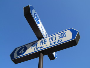 交差点の標識の写真素材 [FYI00200825]