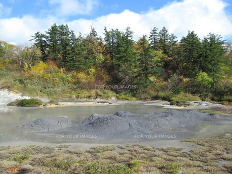 後生掛温泉の泥火山の素材 [FYI00200848]