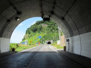 オロロンラインのトンネルの写真素材 [FYI00200968]