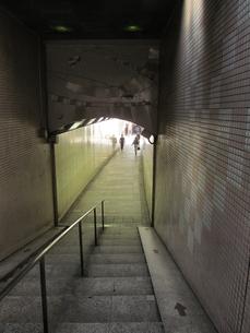 階段のある地下道の写真素材 [FYI00201148]