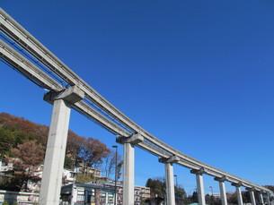 モノレールの線路の写真素材 [FYI00201201]
