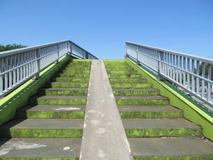 歩道橋の階段の写真素材 [FYI00201248]