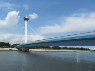 東京湾の葛西なぎさ橋の写真素材 [FYI00201292]
