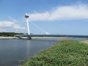 東京湾の葛西なぎさ橋の写真素材 [FYI00201313]