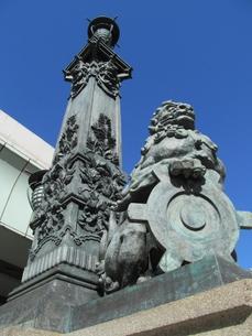 日本橋の銅像の写真素材 [FYI00201407]