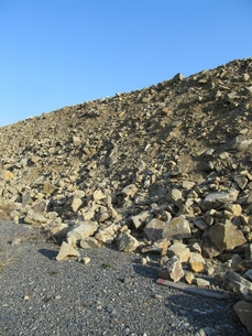 土木工事の土砂の写真素材 [FYI00201500]