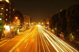 環七通りの夜の写真素材 [FYI00201817]