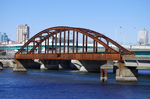 錆びた橋の写真素材 [FYI00201978]