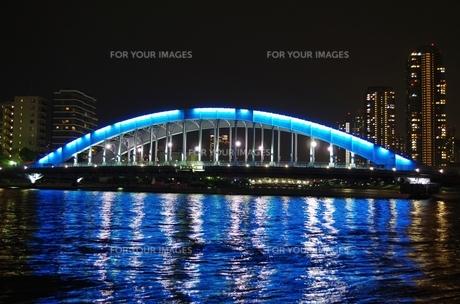 永代橋の夜景の素材 [FYI00201984]