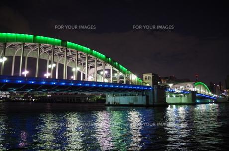 勝鬨橋の夜の素材 [FYI00201987]