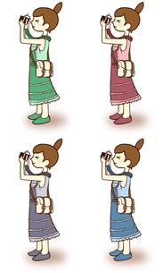 カメラ女子-一眼の写真素材 [FYI00202055]