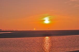 ノルマンディの夕陽の写真素材 [FYI00202317]