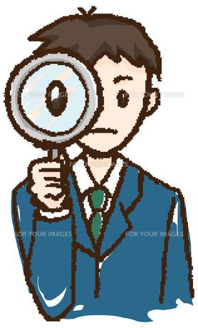 確認する男性の写真素材 [FYI00202432]