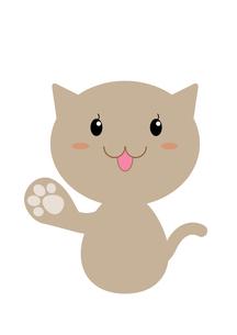 ネコの案内(説明)の写真素材 [FYI00202768]