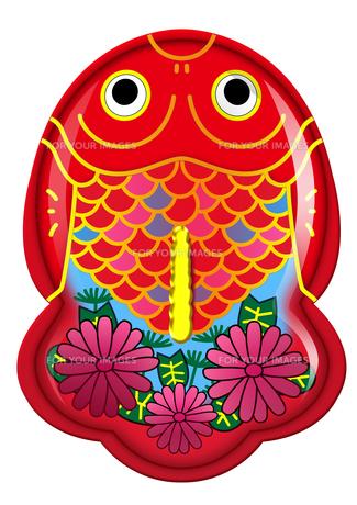 ブリキ金魚のおもちゃシリーズ(華花)の写真素材 [FYI00202777]