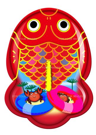 ブリキ金魚のおもちゃシリーズ(浮き輪とカニ)の素材 [FYI00202782]
