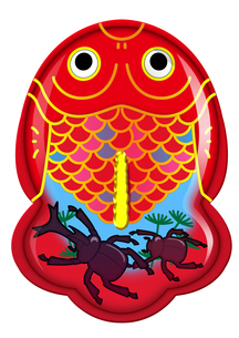 ブリキ金魚のおもちゃシリーズ(カブトムシ)の素材 [FYI00202789]
