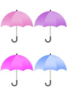 カラフルな傘のイラストの写真素材 [FYI00202798]
