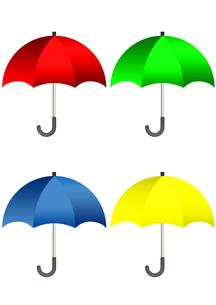 カラフルな傘のイラストの写真素材 [FYI00202802]