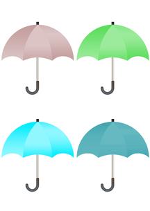 カラフルな傘のイラストの写真素材 [FYI00202803]