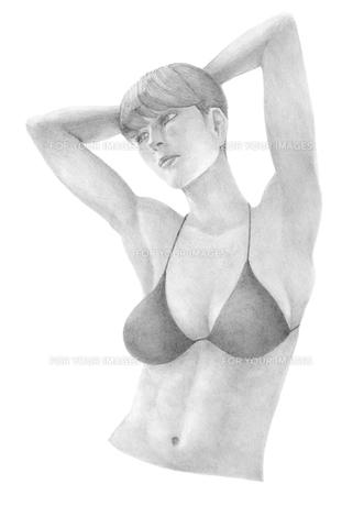 水着を着た女性の写真素材 [FYI00203769]