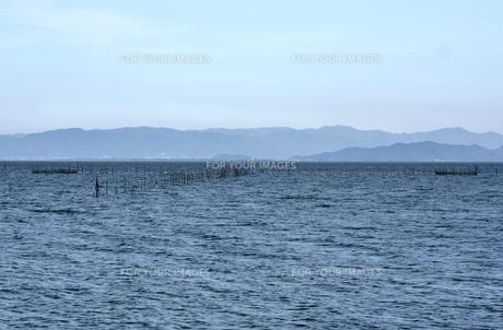 琵琶湖のエリ漁業の素材 [FYI00203793]
