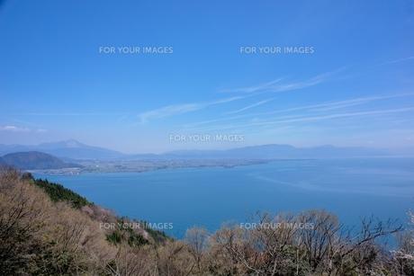 春の奥琵琶湖風景 Fyi00203797 ロイヤリティフリー素材 写真素材