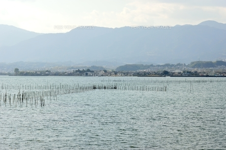 琵琶湖のエリ漁業の素材 [FYI00203820]