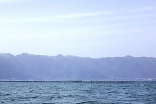 琵琶湖のエリ漁業の素材 [FYI00203853]