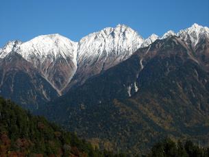 初冬の穂高岳の写真素材 [FYI00203883]