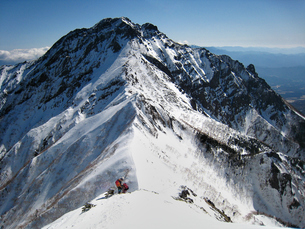 雪山登山の写真素材 [FYI00203928]