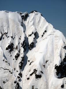 残雪の不帰ノ嶮Ⅱ峰の写真素材 [FYI00203932]