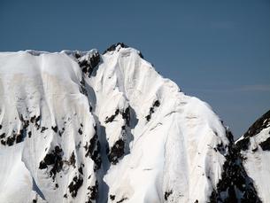 残雪の不帰ノ嶮Ⅱ峰の写真素材 [FYI00203942]