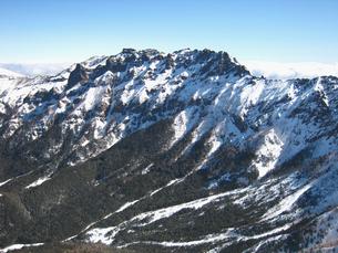 厳冬期、八ヶ岳連峰横岳景観の写真素材 [FYI00203955]