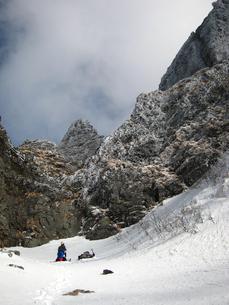 八ヶ岳の冬期クライミングの写真素材 [FYI00203965]