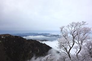 冬の御在所岳から三重県側の写真素材 [FYI00204134]
