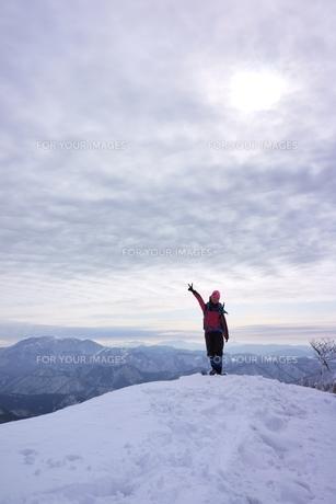スノーシュー登山の素材 [FYI00204215]