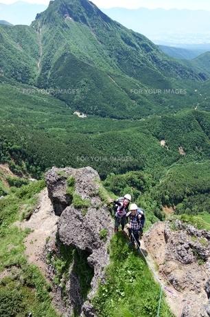 八ヶ岳登山小同心クライミングの写真素材 [FYI00204225]