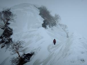 荒れる春山、白馬岳の写真素材 [FYI00204470]