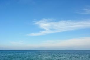 琵琶湖と青空の素材 [FYI00204564]