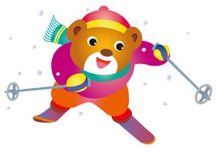 熊のスキーの素材 [FYI00205212]