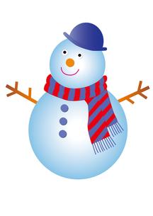 マフラーをした雪だるまの写真素材 [FYI00205217]